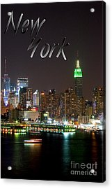 New York Acrylic Print by Syed Aqueel