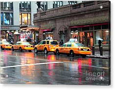 Acrylic Print featuring the photograph New York's Famous Cabs by Laurinda Bowling