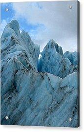New Zealand Glacier Acrylic Print by JoAnne Rauschkolb