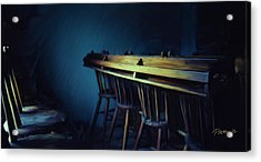 New Zealand Series - St. Ozwald's Choir Loft Acrylic Print by Jim Pavelle