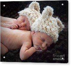 Newborn Twins Acrylic Print
