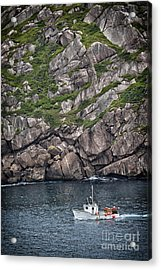 Acrylic Print featuring the photograph Newfoundland Fishing Boat by Verena Matthew