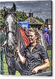 Acrylic Print featuring the photograph Newmarket Races I by Jack Torcello