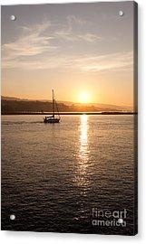 Newport Bay Corona Del Mar Sunrise Acrylic Print by Paul Velgos