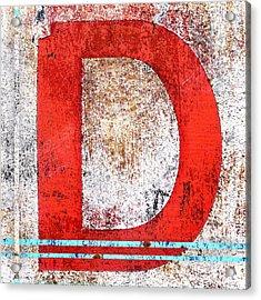 Newport D Acrylic Print by Carol Leigh