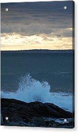 Newport Evening Waves Acrylic Print by Dickon Thompson
