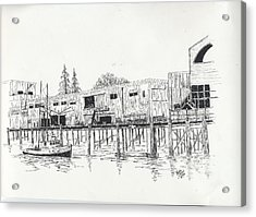 Newport Oregon Waterfront Acrylic Print