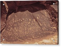 Newspaper Rock In Indian Creek Historic Acrylic Print
