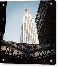 #newyorker #newyork #ny #empirestate Acrylic Print