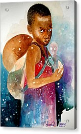 Next Of Kin Acrylic Print by Okwir Isaac