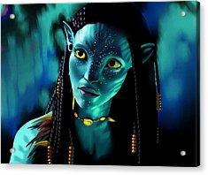 Neytiri Acrylic Print by Laura Steelman