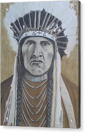 Nez Perce American Native Indian Acrylic Print by David Hawkes