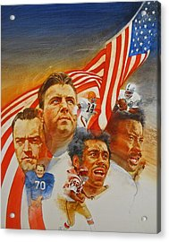 Nfl Hall Of Fame 1984 Game Day Cover Acrylic Print by Cliff Spohn