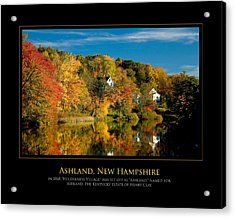 Nh Foilage Acrylic Print by Jim McDonald Photography