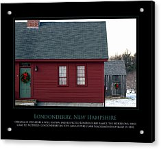Nh Old Homes Acrylic Print by Jim McDonald Photography