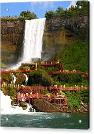 Acrylic Print featuring the photograph Niagara Falls Cave Of The Winds by Mark J Seefeldt