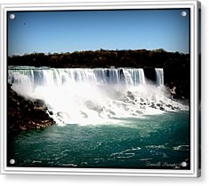 Acrylic Print featuring the photograph Niagara Falls The Canadian Side by Danielle  Parent