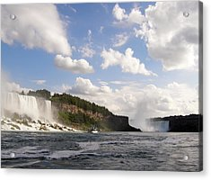 Acrylic Print featuring the photograph Niagara Falls View From The Maid Of The Mist by Mark J Seefeldt