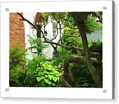 Niagara On The Lake Courtyard Acrylic Print by Bob Salo