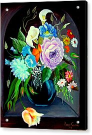 Acrylic Print featuring the painting Niche by Fram Cama