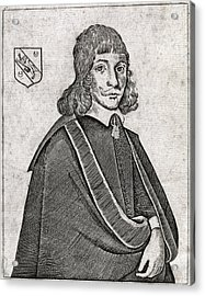 Nicholas Culpeper, English Physician Acrylic Print by Middle Temple Library