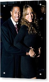 Nick Cannon, Mariah Carey At Arrivals Acrylic Print by Everett