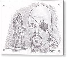 Nick Fury- Director Of S.h.i.e.l.d. Acrylic Print by Chris  DelVecchio