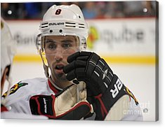 Nick Leddy - Chicago Blackhawks Acrylic Print by Melissa Goodrich