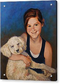 Nicole And Joey Acrylic Print by Peggy Wrobleski