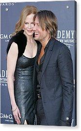Nicole Kidman, Keith Urban At Arrivals Acrylic Print