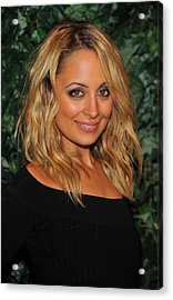 Nicole Richie At Arrivals For Qvc Red Acrylic Print by Everett