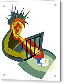 Nicotine Addict Acrylic Print by Paul Brown