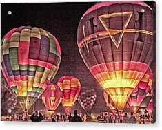 Night Balloon Lighting Acrylic Print