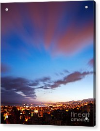 Night City Landscape  Acrylic Print by Anna Om