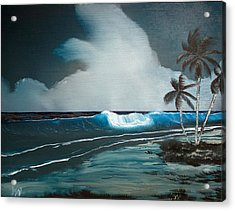 Acrylic Print featuring the painting Night Dream by Karen Nicholson