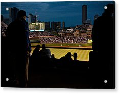 Night Game At Wrigley Field Acrylic Print