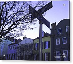Acrylic Print featuring the photograph Night In Savannah by Andrea Anderegg
