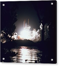 Night Launch Of The Space Shuttle Acrylic Print by Stockbyte