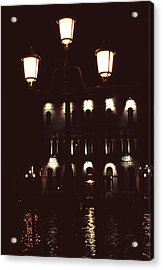 Acrylic Print featuring the photograph Night Lights Grand Canal Venice by Tom Wurl