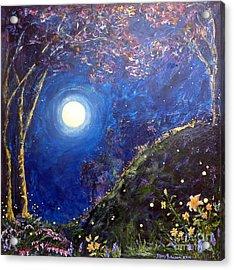 Night Lilies Acrylic Print