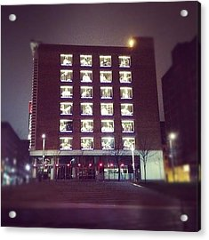 #night #montreal #gmy #building Acrylic Print