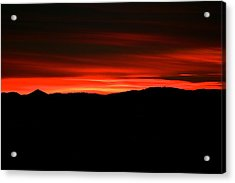 Night On Fire Acrylic Print by Kevin Bone
