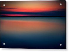 Night On The North Of Sweden Acrylic Print by Marek Czaja