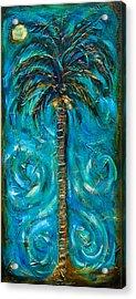Night Palm Acrylic Print by Linda Olsen