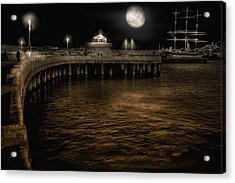 Night Port Acrylic Print by Michael Cleere