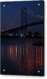 Night Reflections-detroit River Acrylic Print