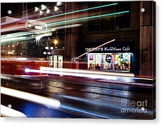 Night Street Motion Acrylic Print by Igor Kislev