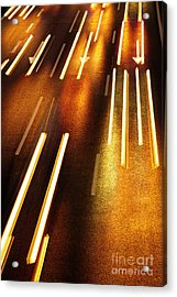 Night Traffic Acrylic Print by Carlos Caetano