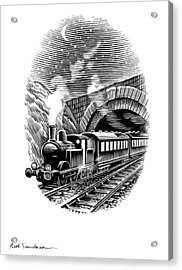 Night Train, Artwork Acrylic Print by Bill Sanderson