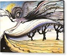 Acrylic Print featuring the painting Night by Valentina Plishchina